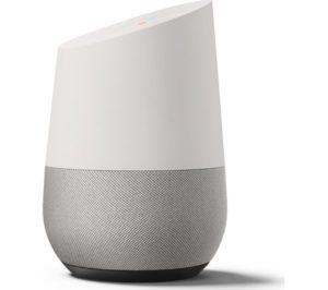 Foto van de Google Home slimme speaker voor in huis