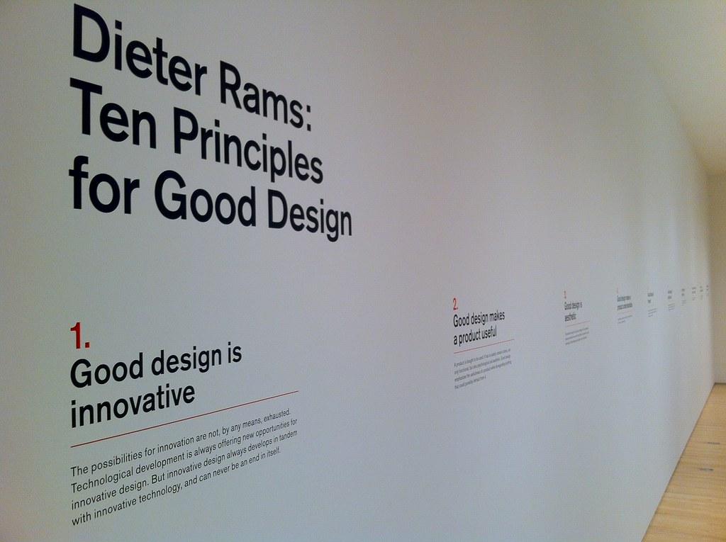 Foto van Dieter Ram's 10 principes voor goed design
