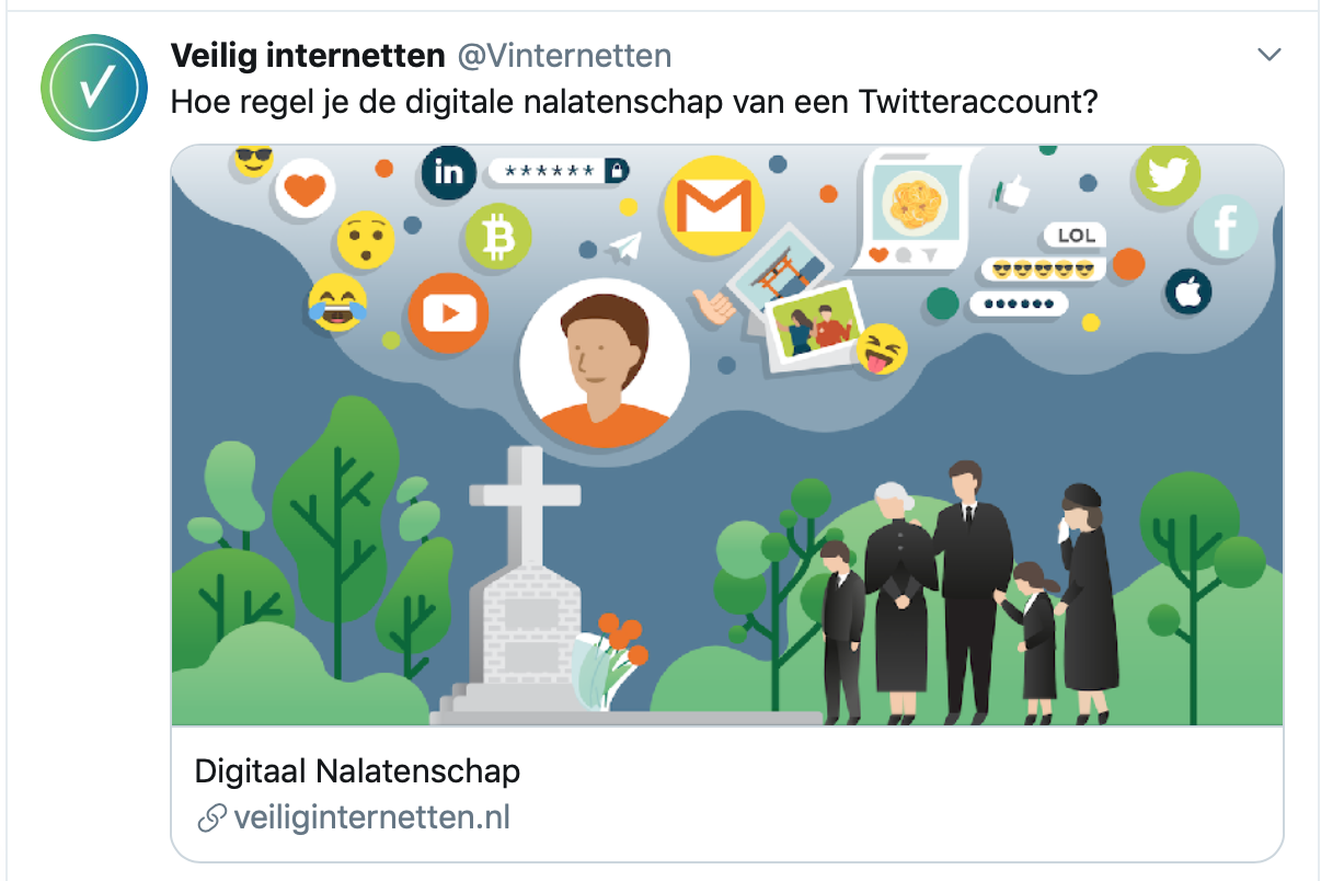 Tweet over digitale nalatenschap