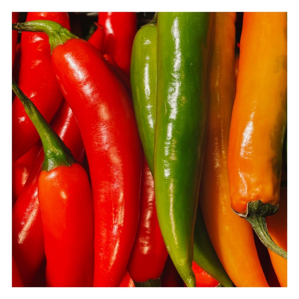 Rode groene pepers roelio