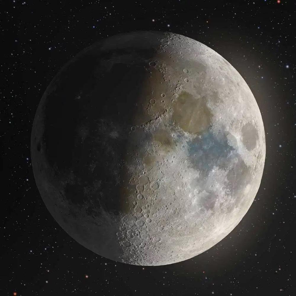 Foto van de maan door Andrew McCarthy