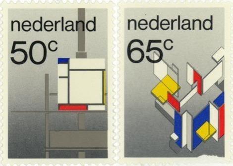 Mondrian Stamps WIm Crouwel
